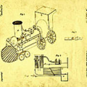 Steam Engine Patent 1869 Poster