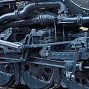 Steam Engine Wheels Poster