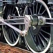 Steam Locomotive Coupling Rod And Driver Wheels Poster