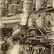 Steam Power Sepia Vignette Poster
