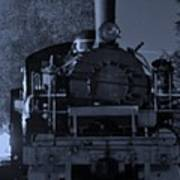 Steam Train At Night Poster