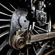 Steam Train Wheels Close Up Poster