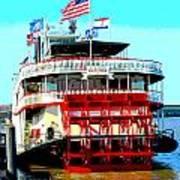 Steamer Natchez Paddleboat Poster