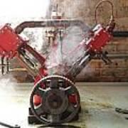 Steaming Red V Poster