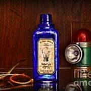 Steampunk Bottled Light Poster