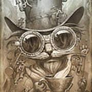 Steampunk Cat Poster