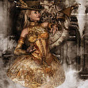 Steampunk Dragon Friend Poster