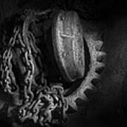 Steampunk - Gear - Hoist And Chain Poster by Mike Savad