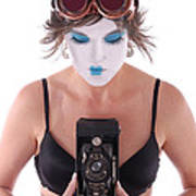 Steampunk Geisha Photographer II Poster