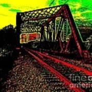 Steampunk Railroad Truss Bridge Poster
