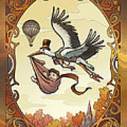 Steampunk Stork Poster