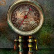 Steampunk - Train - Brake Cylinder Pressure  Poster by Mike Savad