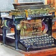 Steampunk - Vintage Typewriter Poster by Susan Savad