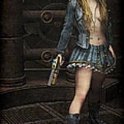 Steampunk Vixen Poster by Maynard Ellis