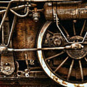 Steampunk- Wheels Of Vintage Steam Train Poster