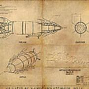 Steampunk Zepplin Poster by James Christopher Hill