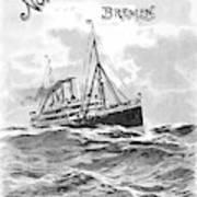 Steamship Menu, 1901 Poster