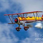 Stearman Biplane Poster