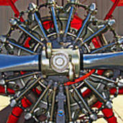 Stearman Engine Poster