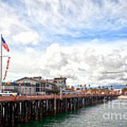 Stearns Wharf Santa Barbara California Poster by Artist and Photographer Laura Wrede