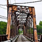 Steel Span Railroad Bridge Manayunk  Philadelphia Pa Poster