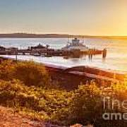 Steilacoom Ferry Dock At Sunset Poster
