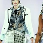 Stella Tennant On A Runway For Anna Sui Poster
