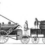 Stephensons Rocket 1829 Poster