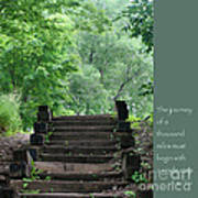 Steps And Lao Tzu Quote Poster by Heidi Hermes
