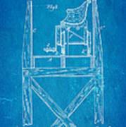 Stevens Roller Coaster Patent Art  3 1884 Blueprint Poster by Ian Monk