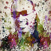 Stevie Wonder Portrait Poster by Aged Pixel