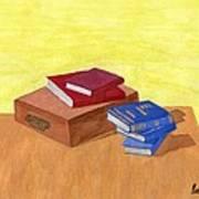 Still Life - Books Poster by Bav Patel