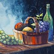 Still Life In Watercolours Poster