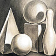 Still Life Study Of Forms Poster