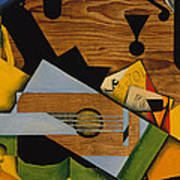 Still Life With A Guitar Poster