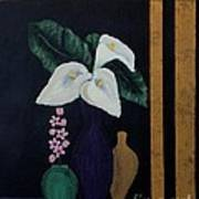 Still Life With Calla Lilies Poster