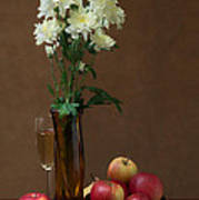 Still Life With Chrysanthemums Poster
