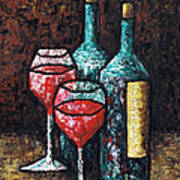 Still Life With Wine Poster