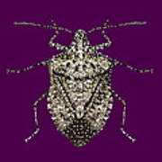 Stink Bug Bedazzled Poster