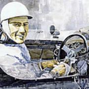 Stirling Moss Poster by Yuriy  Shevchuk