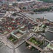 Stockholm Aerial View Poster by Lars Ruecker