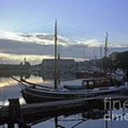 Stockholm City Harbor Dwan Poster