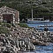 Roman Port Of Sa Nitja In Minorca - Stone And Sea Poster