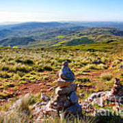 Stone Cairns Poster