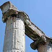 Stone Carved Columns At The Temple Of Aphrodite  Poster