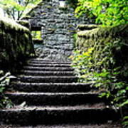 Stone House Stairs Poster by Lizbeth Bostrom