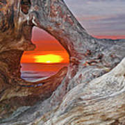 Stone Lagoon Sunset Poster