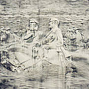 Stone Mountain Georgia Confederate Carving Poster