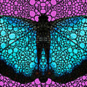 Stone Rock'd Butterfly 2 By Sharon Cummings Poster