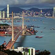 Stonecutter Bridge, Hong Kong Poster